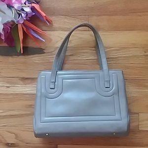 VINTAGE Beige with Paisley Print Interior Handbag